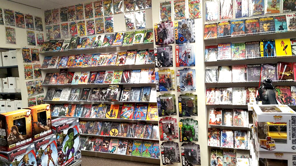 Inside Stinky's Comic & Toys